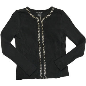 Escapade Sweater Jacket Suede Leather Full Zip PXS